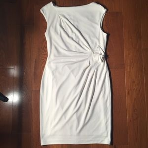 ATM knee length side ruched dress medium NWOT